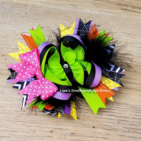 Wickedly Cute Halloween Boutique Hair Bow- New Item