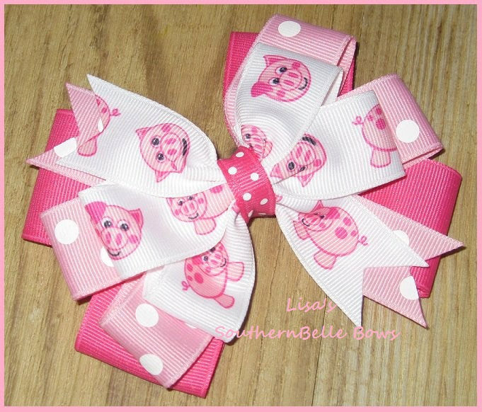 Piggy Pinwheel, Hair Bow
