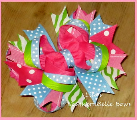 HAIR BOW, Girls Boutique Hair Bow, M2M Sibling Shirts