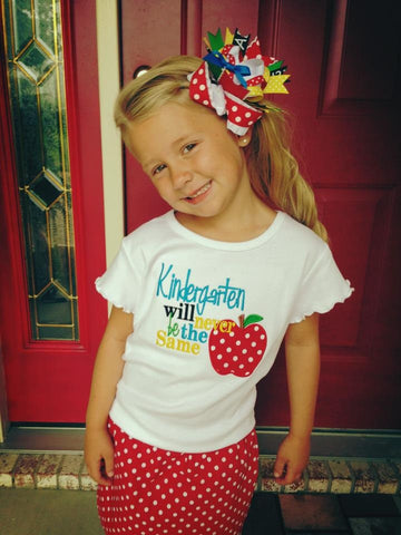 2nd Grade will Never be the Same, READY TO SHIP size 8Y (8/9) Back to School Shirt for Girls