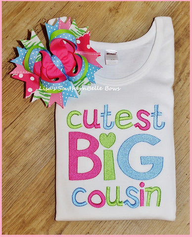 Cutest BIG Cousin, Sibling Set, Sibling Shirts, New Baby Annoucement