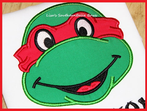 Character Applique, Turtle Applique, Ninja, Birthday Shirt, Personalized Shirt for Kids