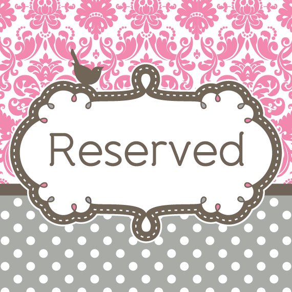 Reserved Listing for Alicia