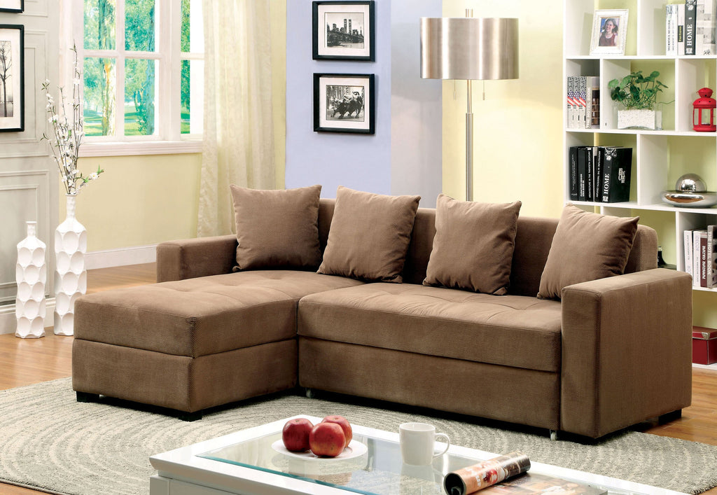 Turns Into Bed · Sofa Sectional With Storage And Pull Out Chaise.