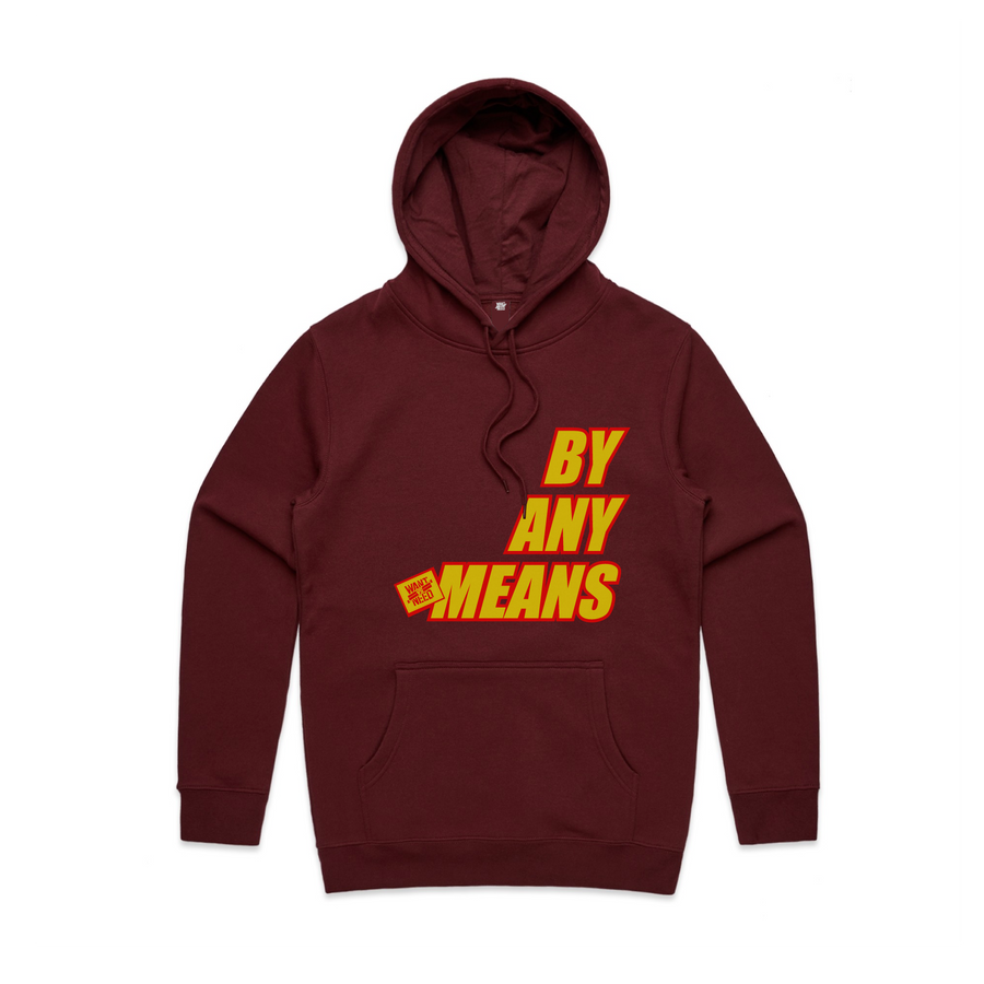 2019 BY ANY MEANS PULLOVER HOODIE - CARDINAL