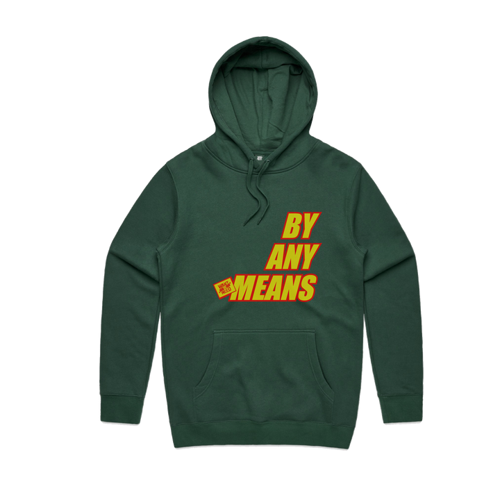 2019 BY ANY MEANS PULLOVER HOODIE - FOREST