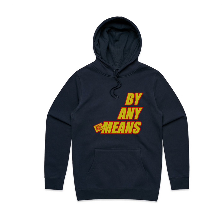 2019 BY ANY MEANS PULLOVER HOODIE - PETROL BLUE