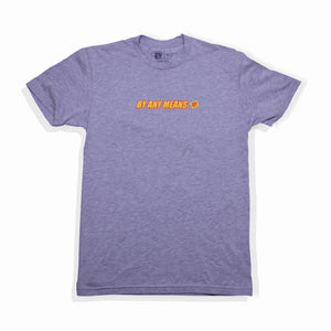 BY ANY MEANS LOGO TEE - GREY