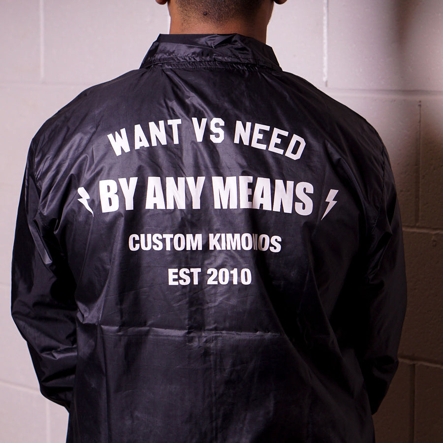 BY ANY MEANS COACH JACKET - BLACK