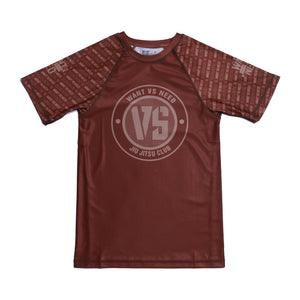 WVSN TONE ON TONE RASHGUARD - BROWN