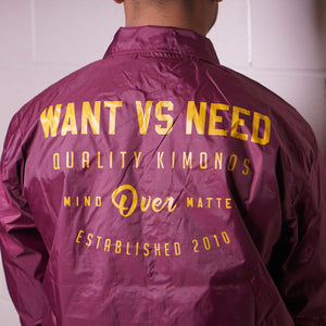 MIND OVER MATTER COACH JACKET - CARDINAL