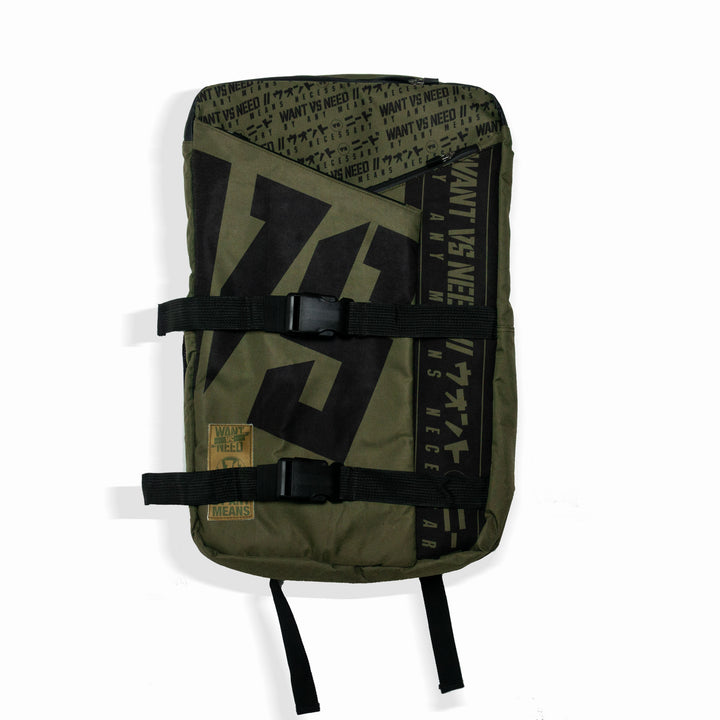 WANT VS NEED BACKPACK - OLIVE GREEN