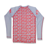 WANT VS NEED x ILLEST RASH GUARD - INFRARED GRAY