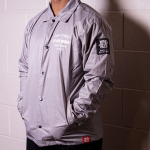 WANT VS NEED - BY ANY MEANS COACH JACKET - GREY