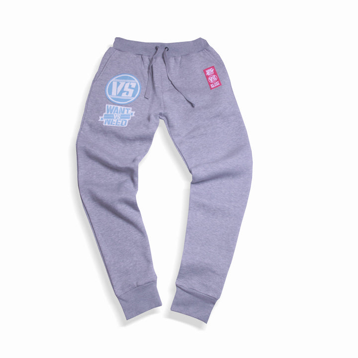 WANT VS NEED SWEATPANTS - HEATHER GRAY
