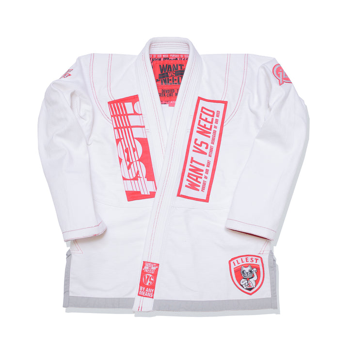 WANT VS NEED x ILLEST KIMONO - INFRARED WHITE