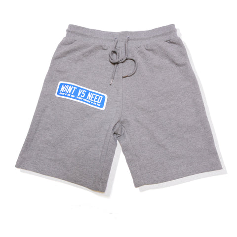 WANT VS NEED PURSUIT SHORTS - GRAY