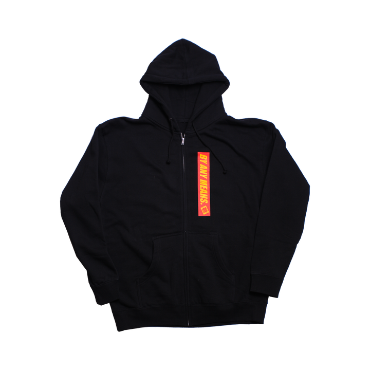 JIU JITSU CLUB ZIP UP HOODIE - BLACK
