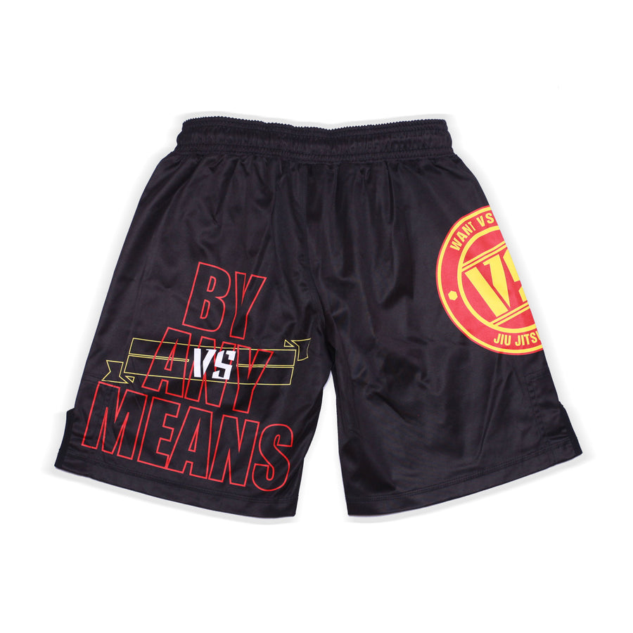 KIDS WANT VS NEED NOGI SHORTS - BLACK