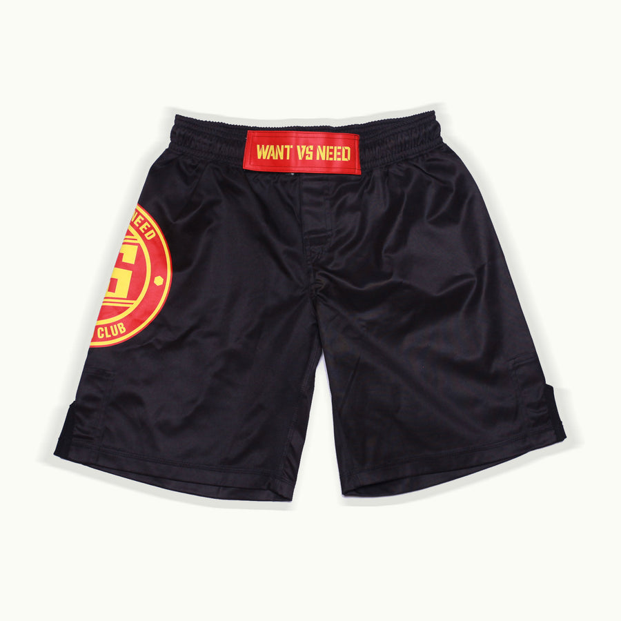 ADULT WANT VS NEED BY ANY MEANS NOGI SHORTS - BLACK
