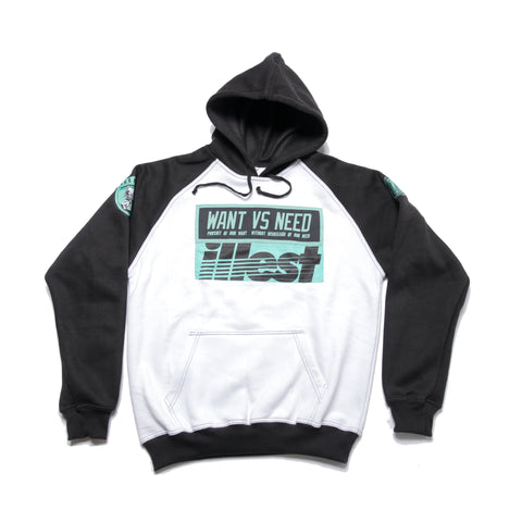 WANT VS NEED x ILLEST HOODIE - TWO TONE