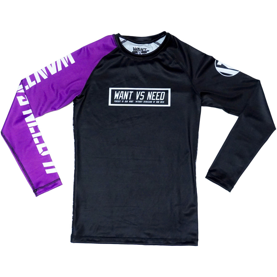 WANT VS NEED RASHGUARD - PURPLE
