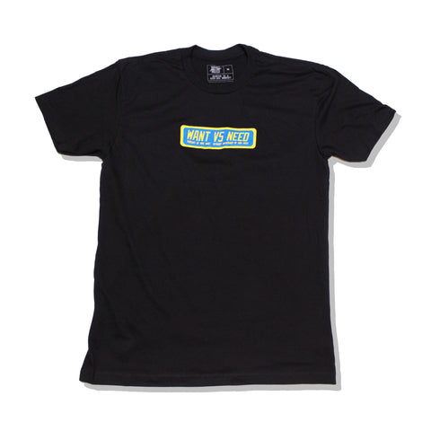 WANT VS NEED PURSUIT TEE - YELLOW/BLUE