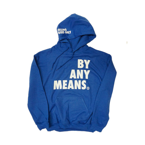 BY ANY MEANS HOODY - ROYAL