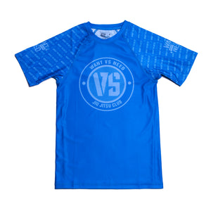 WVSN TONE ON TONE RASHGUARD - BLUE