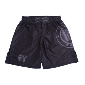 WVSN TONE ON TONE NOGI SHORTS - BLACK