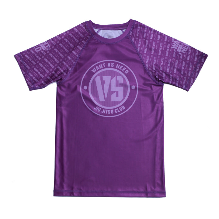 WVSN TONE ON TONE RASHGUARD - PURPLE
