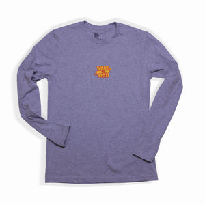 WANT VS NEED LONG SLEEVE LOGO TEE - HEATHER GREY