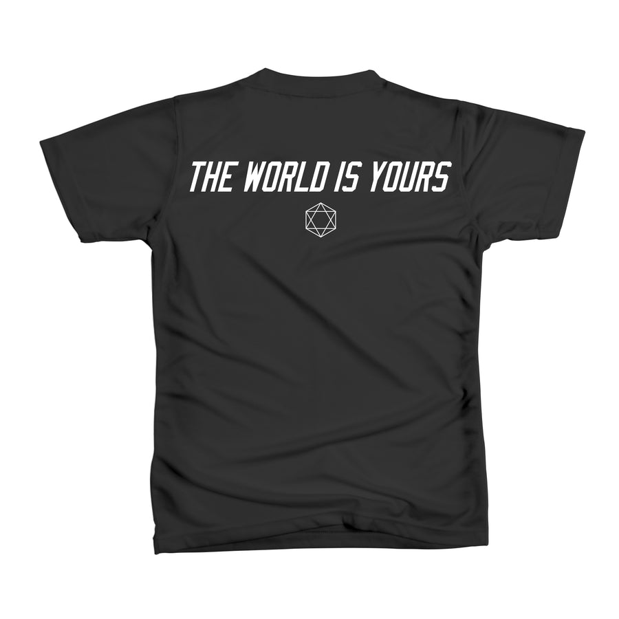 WANT VS NEED WORLDS TEE - BLUE