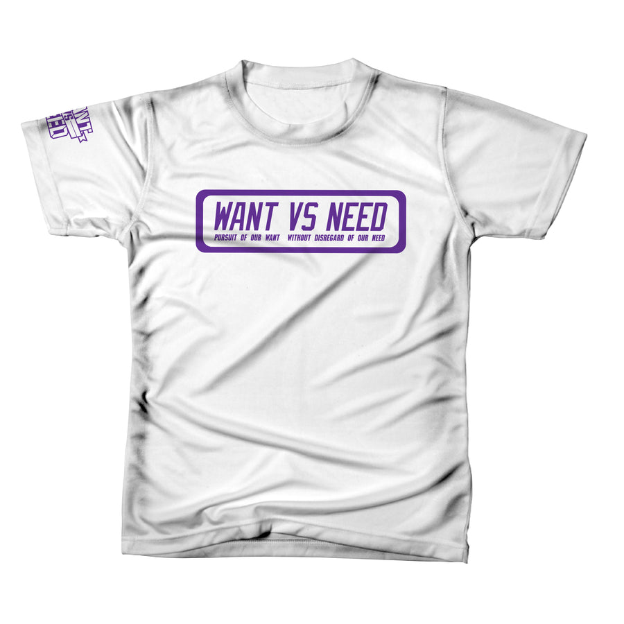 PURSUIT TEE - WHITE/PURPLE