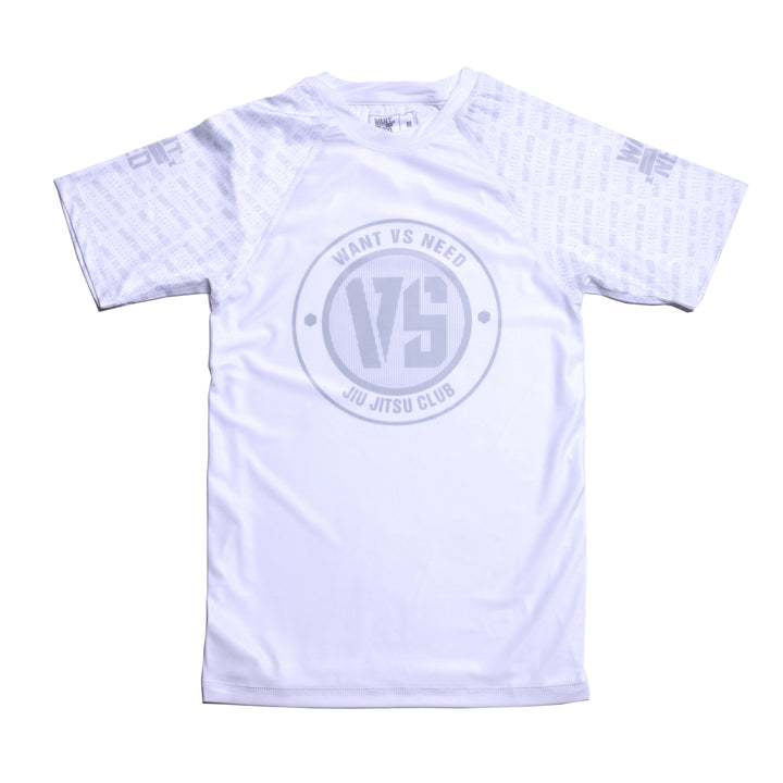 WVSN TONE ON TONE RASHGUARD - WHITE