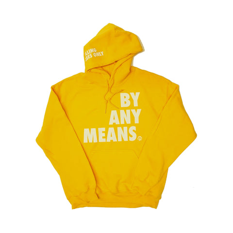 BY ANY MEANS HOODY - YELLOW GOLD