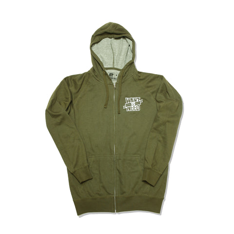 BY ANY MEANS FRENCH TERRY FULL ZIP UP - OLIVE