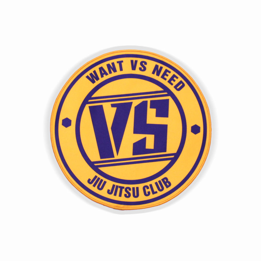 WANT VS NEED JIU JITSU CLUB PATCH - PURPLE / GOLD