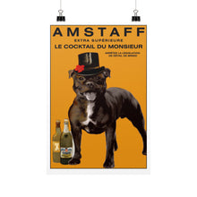 Load image into Gallery viewer, Amstaff by Christine J Head 12x18 - pupsketches