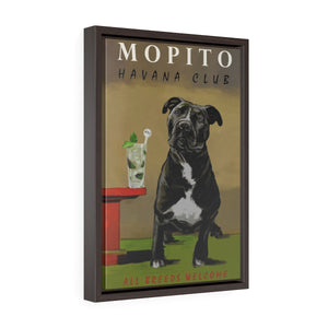 """Mopito"" by Christine j Head: Framed Gallery wrapped Canvas"