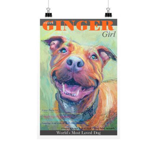 Ginger: World's Most Loved Dog 12x18 - pupsketches