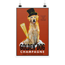 Load image into Gallery viewer, Golden Dog Champagne 12x18 - pupsketches