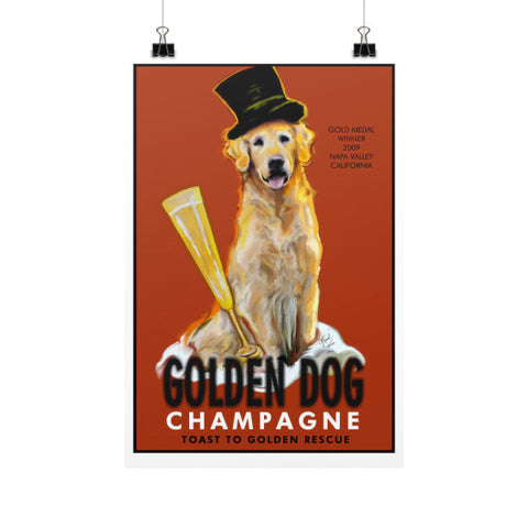 Golden Dog Champagne 12x18 - pupsketches