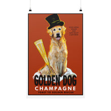 Load image into Gallery viewer, Golden Dog Champagne 24x36 - pupsketches