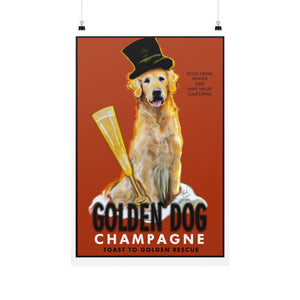 Golden Dog Champagne 24x36 - pupsketches