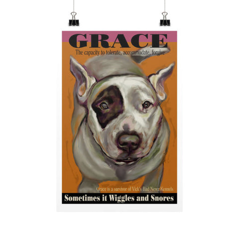 Grace (Pink): Sometimes it Wiggles & Snores 12x18 - pupsketches