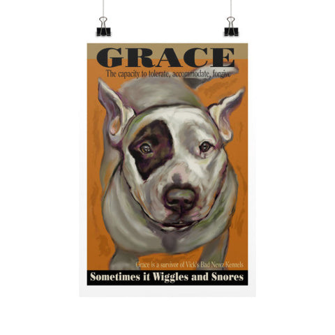 Grace: Sometimes it Wiggles & Snores 12x18 - pupsketches