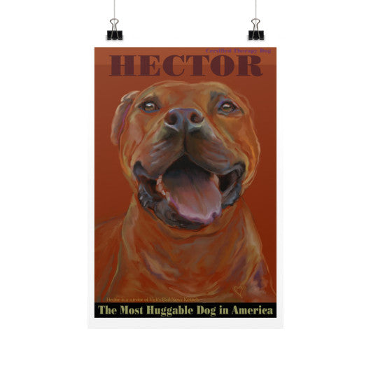 Hector: Certified Therapy Dog 12x18 - pupsketches