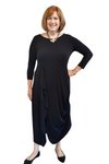 Sympli Drama Dress in Black