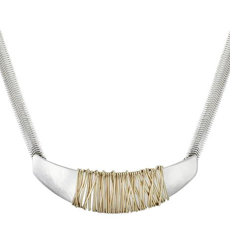 Marjorie Baer Fin with Heavy Wire Wrapping Necklace